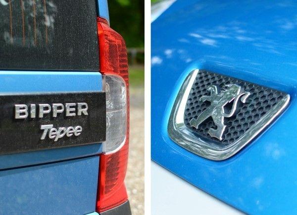 Peugeot Bipper badges