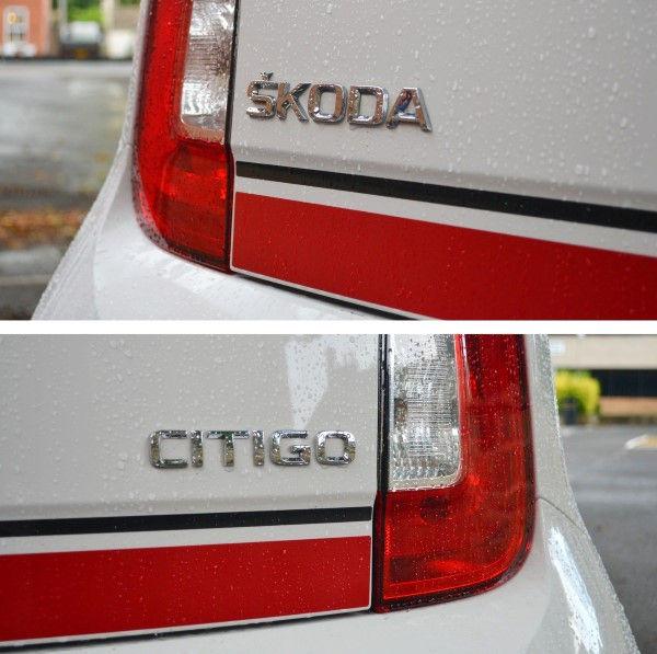 Skoda Citigo Sport badges
