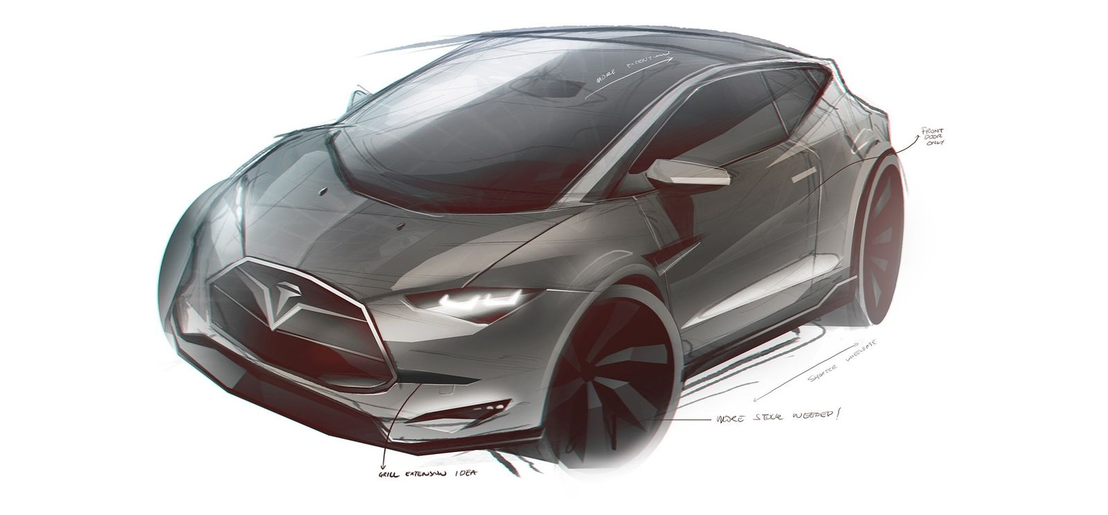 2016 Tesla Model C City Car Design Sketches Carwow