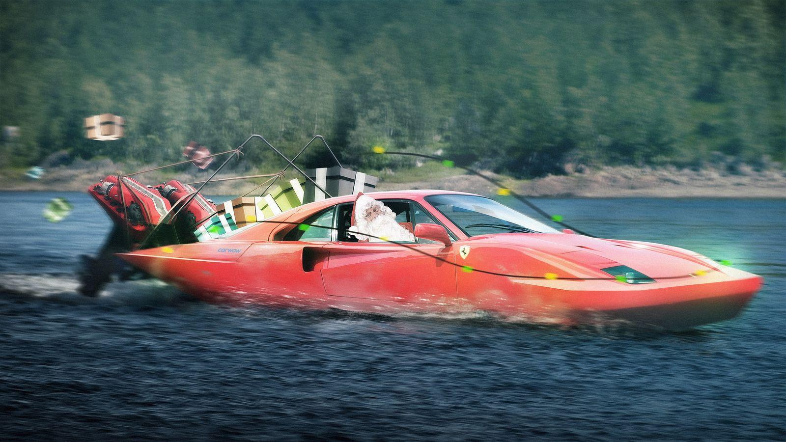 The christmas cars santa claus would drive carwow for Ferrari christmas