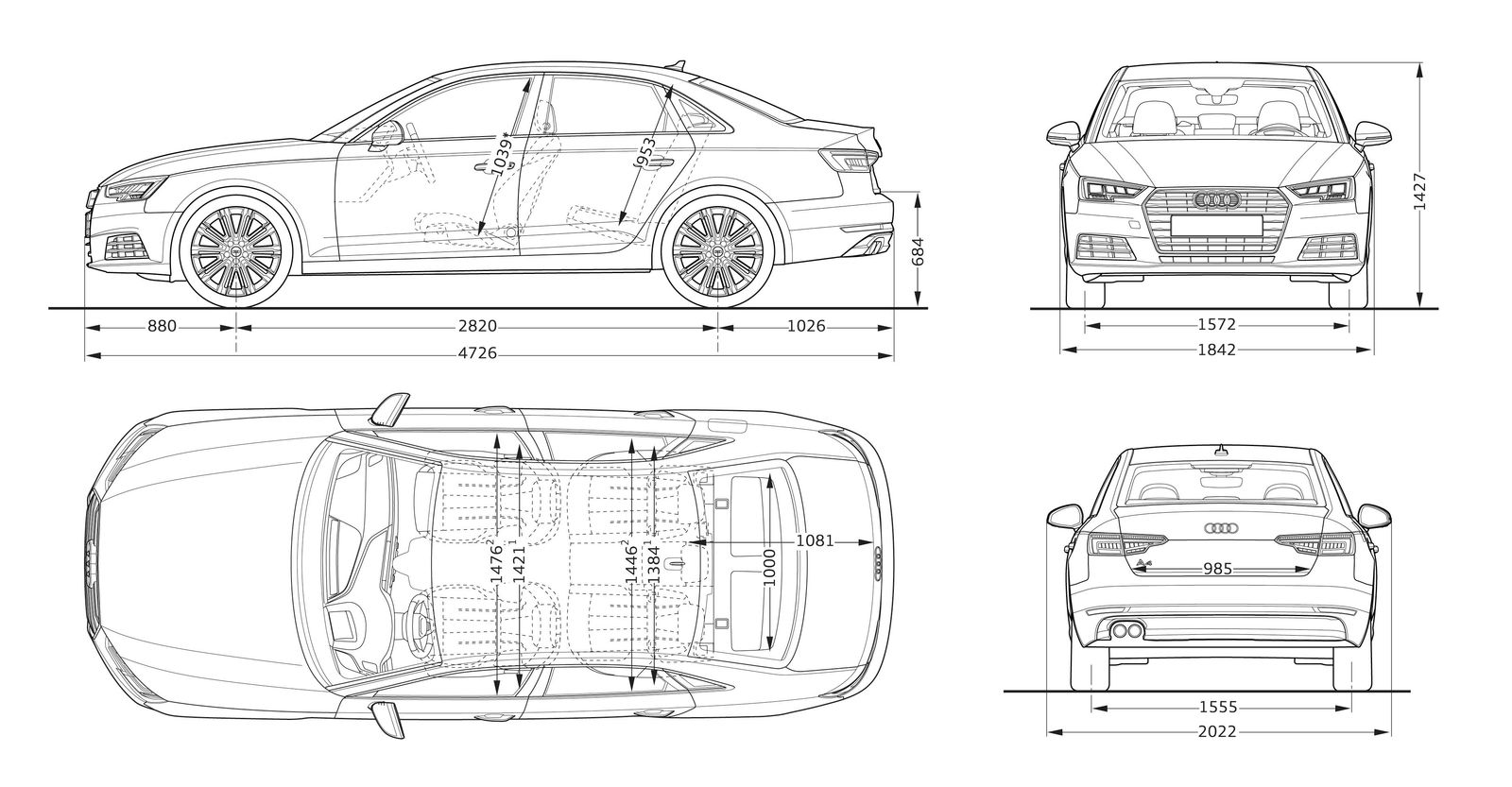 audi a4 sizes  dimensions  u0026 legroom guide