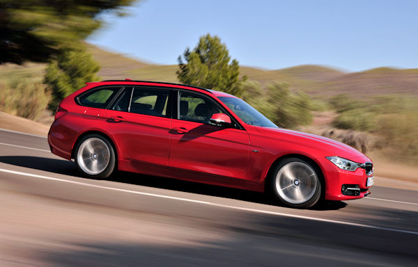 red side bmw 3 series touring