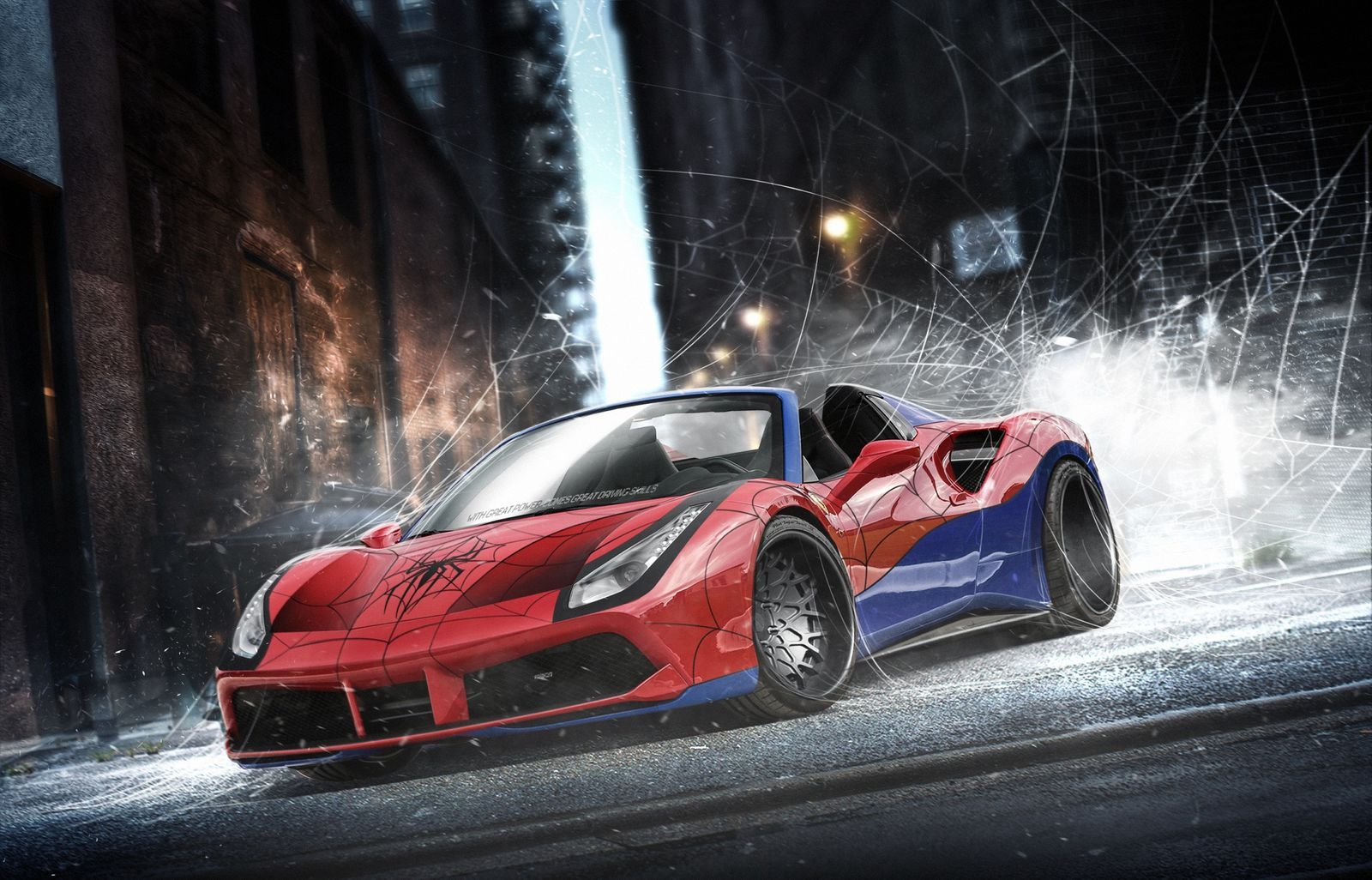 SpiderMan's Ferrari 488 Spider - carwow