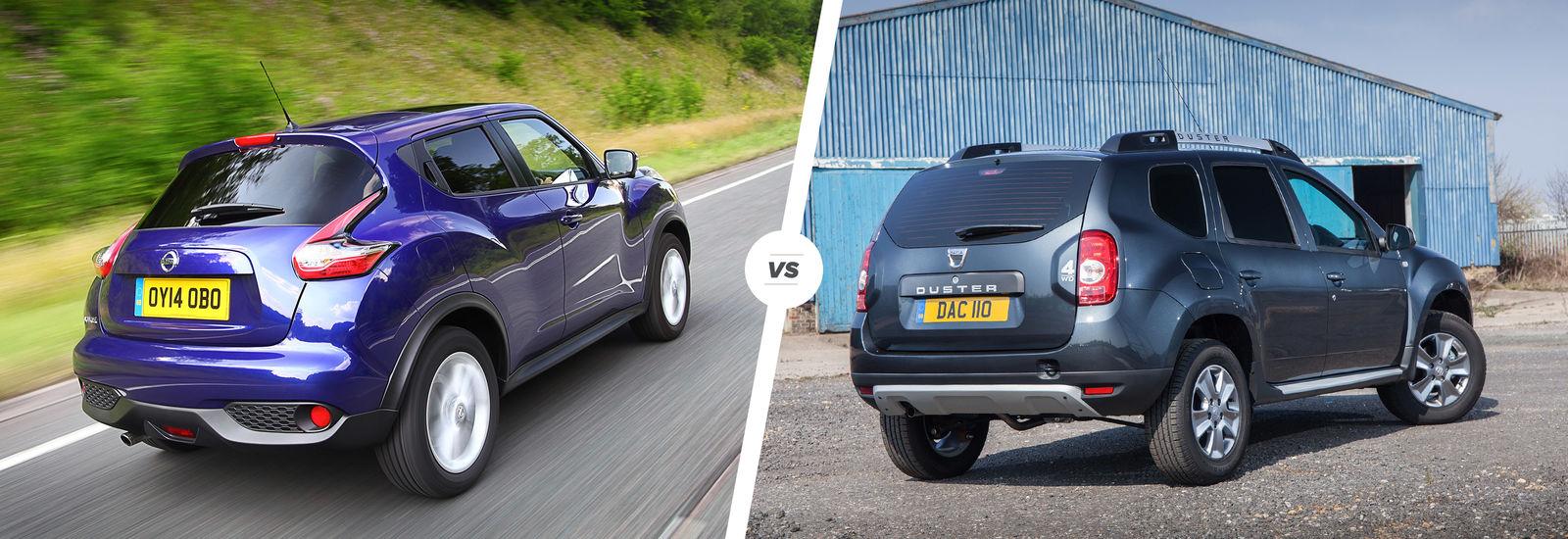 Nissan Juke vs Dacia Duster  budget SUV battle  carwow