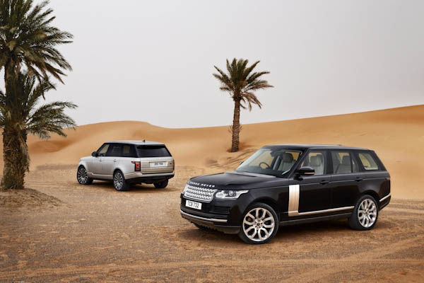Range Rover Silver and Black