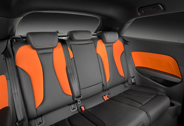 New Audi A3 back seats