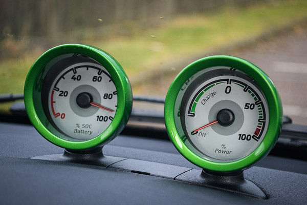 Smart Fortwo Electric Drive Dials