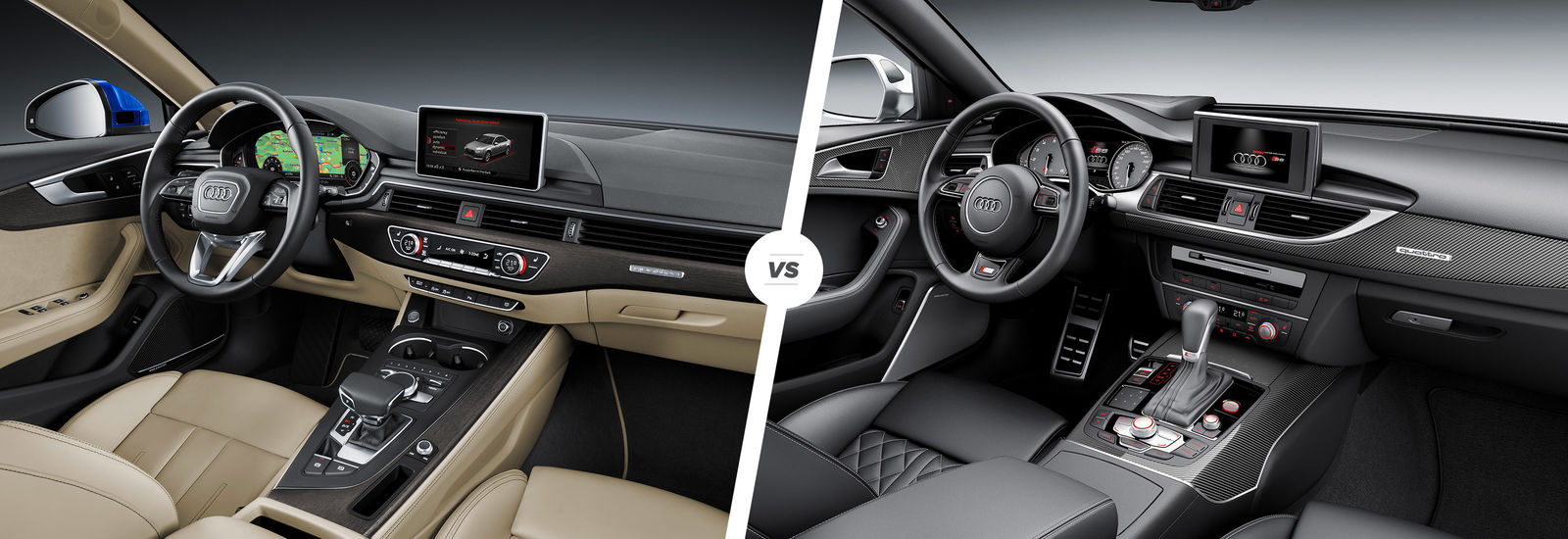 Comparison Of Audi A4 And Audi A6 Interior Dashboards