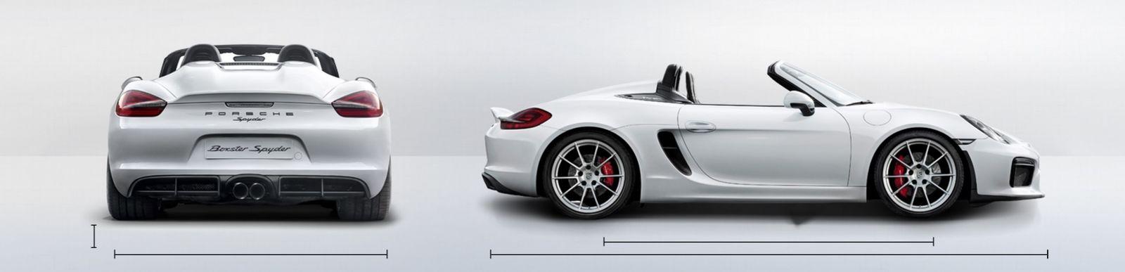 Porsche boxster length