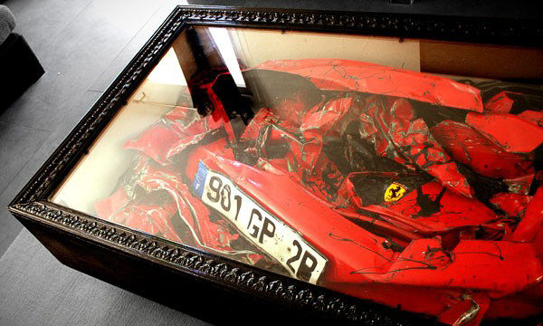 car crash coffee table