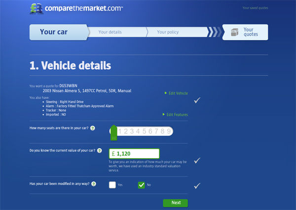 Comparethemarket Car Insurance Redesign | carwow