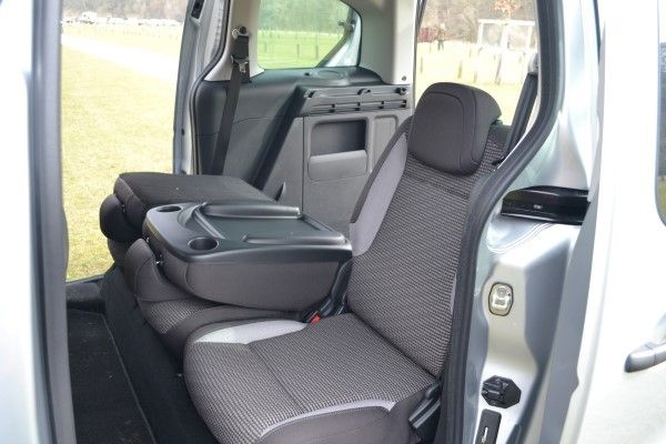 Peugeot Partner Tepee seats folded