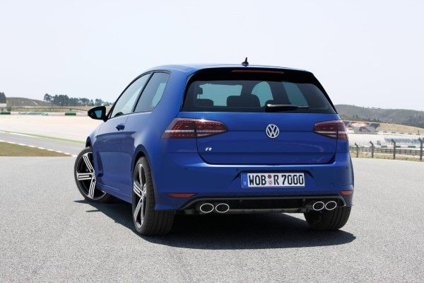 VW Golf R rear angle