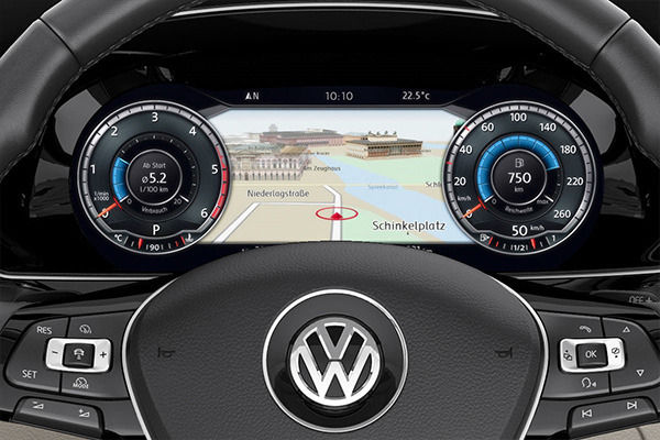 2015 VW Passat dashboard TFT screen