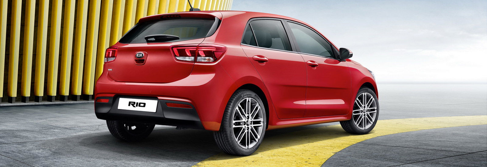 The new rio s less curvaceous rear sports a pair of updated brake light that appear to feature led technology the bumper is fitted with a modified black