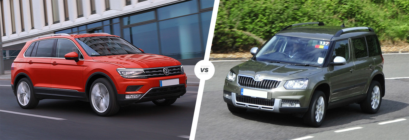 Vw Tiguan Vs Skoda Yeti Suv Comparison Carwow