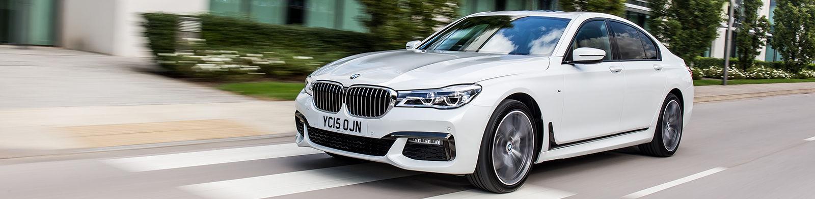 White BMW 7 Series Saloon