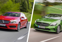 Mercedes a class old vs new 0